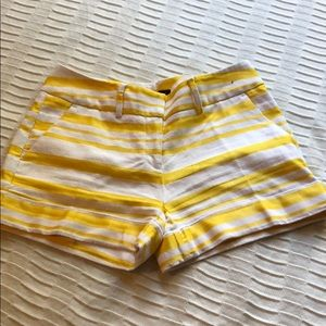 White and Yellow Shorts
